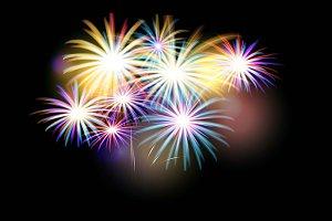 4 fireworks backgrounds