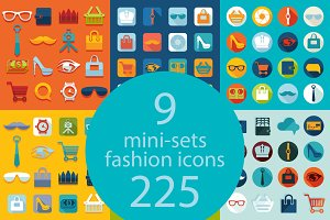 9 FASHION sets of icons