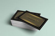 Gold business card template