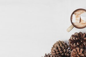 Pinecones and Hot Chocolate
