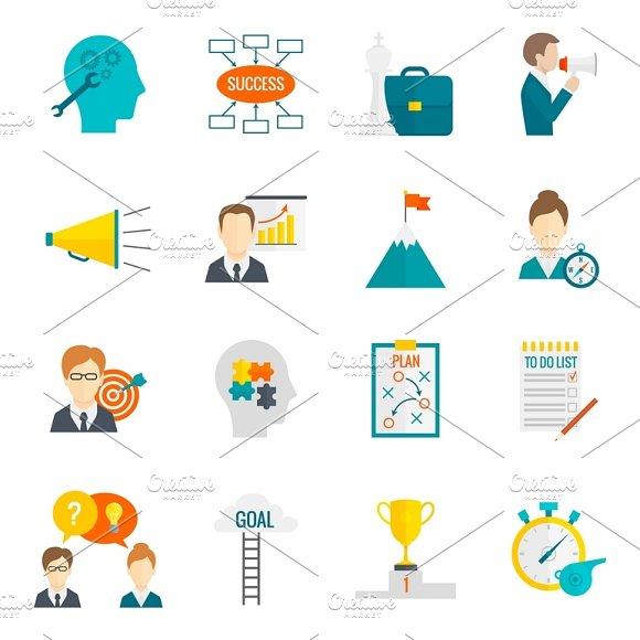 Business Motivation Icon Set