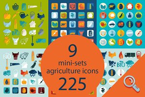 9 AGRICULTURE sets of icons