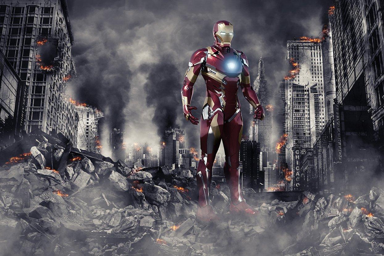 Superhero background backdrop psd illustrations creative market - Superhero background wallpaper ...
