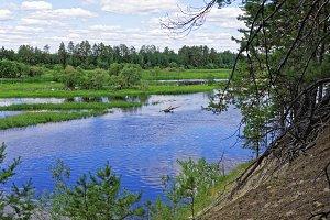 The valley of the Siberian river Konda