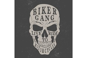 skull logo for biker theme