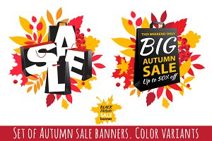 Autumn Sale Banners. Color variants
