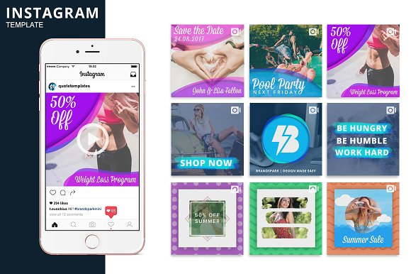 Instagram Video Photoshop Template