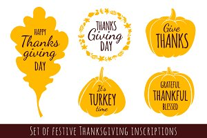 Happy Thanksgiving Day Inscriptions