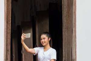 Thai Dancing art taking selfie