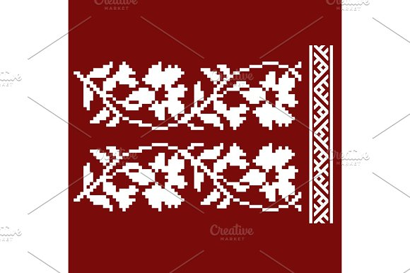 Traditional Embroidery Vector Illustration Of Ethnic Seamless Ornamental Geometric Patterns For Your Design