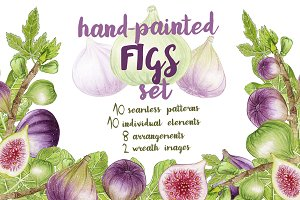 Handpainted Figs Set
