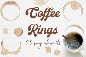 Coffee Rings Clipart, Coffee Stains