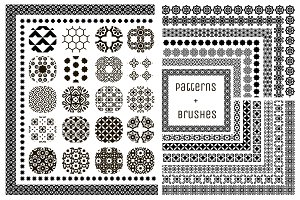 20 Patterns + 15 Pattern Brushes