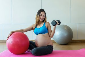 asian Pregnant female