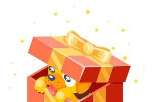 Dog cub gift box