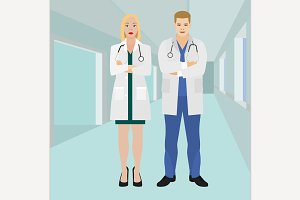 Doctors in a Hospital