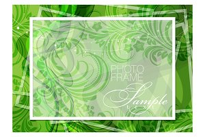 Green background photoframe