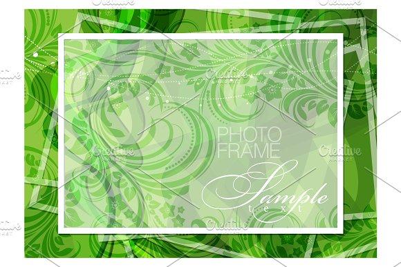 Green Background Photoframe