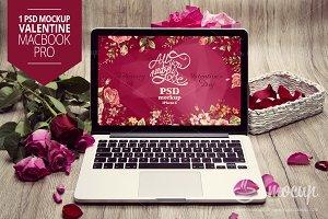 MacBook PSD Mockup Valentine