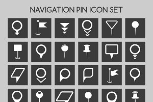 Navigation pin icons