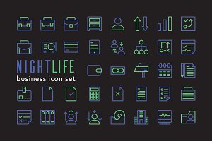 Nightlife Business Icon with sample