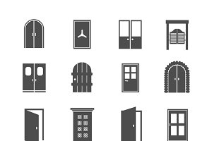 Black door icons