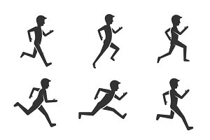 Black man running figure pictograms