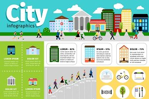 City infographics elements