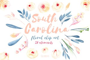 ''South Carolina''. Floral elements