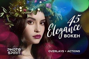 45 Elegance Bokeh Overlays