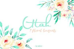 """""""Utah"""". Floral mint bouquets."""