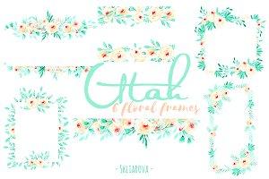 """""""Utah"""". Floral mint frames."""