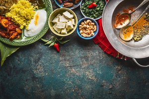 Dishes of indian cuisine