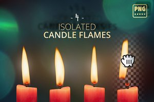 Isolated Candle Flames