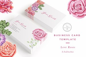 Love Roses Business Card