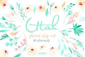 """Utah"". Floral elements."