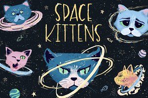 Space kittens/ children's set