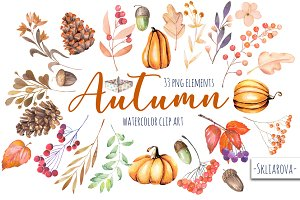"""Autumn"". Floral 33 elements."