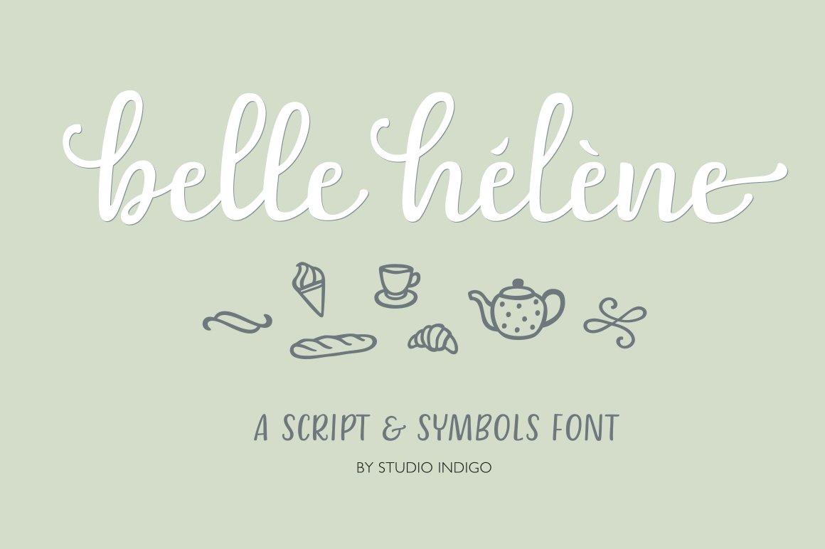 Belle Helene a Script & Symbols Font ~ Script Fonts