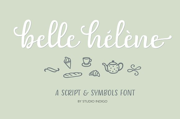 Belle Helene a Script & Symbols Font