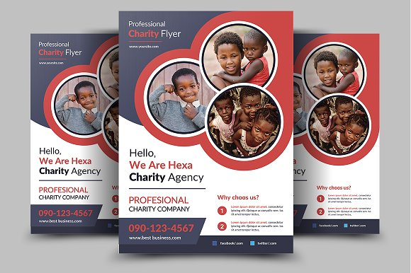 charity flyer template flyer templates creative market