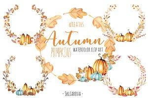 """Autumn"". Floral wreaths."