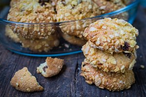 Homemade cornflakes cookies