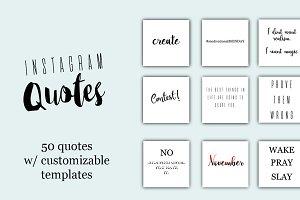 Instagram Quotes - 50 Pack