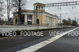 Railway station Krasnoe Selo, platform for train