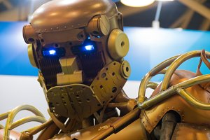 robot metal, head shoulders