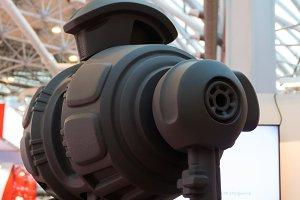 robot metal, head shoulders and hands