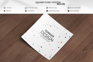 Square Flyer / Poster Mock-Up