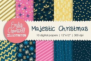 Majestic Christmas Digital Papers