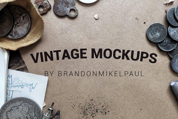 13 Vintage Mockups for Instagram